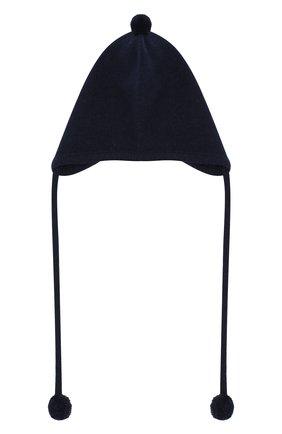 Детского кашемировая шапка OSCAR ET VALENTINE синего цвета, арт. BON01 | Фото 1