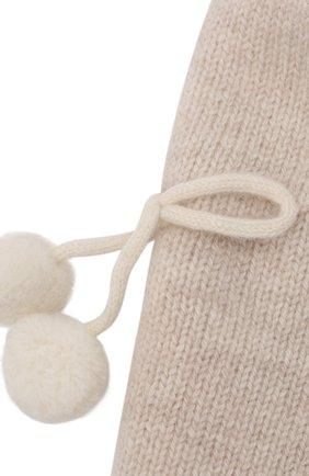 Детского кашемировая шапка OSCAR ET VALENTINE бежевого цвета, арт. BON04CHERRY | Фото 3 (Материал: Кашемир, Шерсть)