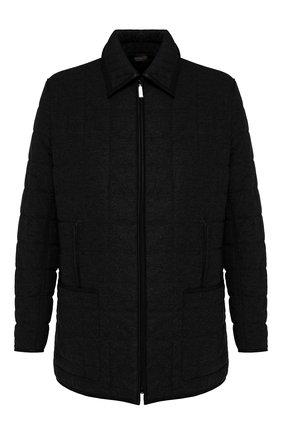 Мужская куртка из смеси шелка и шерсти ZILLI черного цвета, арт. MAS-IF0X0-30291/0004 | Фото 1