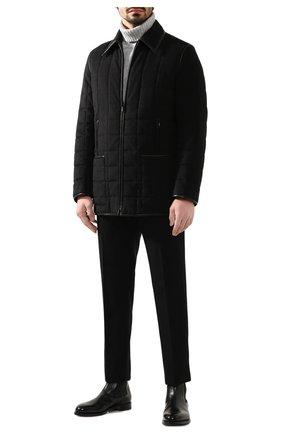 Мужская куртка из смеси шелка и шерсти ZILLI черного цвета, арт. MAS-IF0X0-30291/0004 | Фото 2