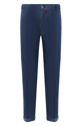 Мужские джинсы KITON синего цвета, арт. UFP1LAC/J07S26 | Фото 1