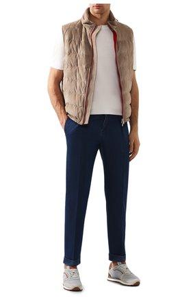 Мужские джинсы KITON синего цвета, арт. UFP1LAC/J07S26 | Фото 2