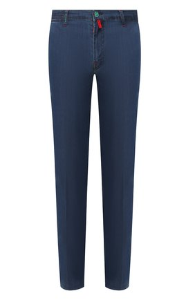 Мужские джинсы KITON синего цвета, арт. UFPP79J07S26 | Фото 1