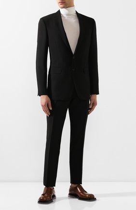 Мужской шерстяной костюм BURBERRY черного цвета, арт. 8022235 | Фото 1