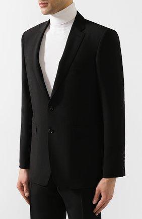 Мужской шерстяной костюм BURBERRY черного цвета, арт. 8022235 | Фото 2
