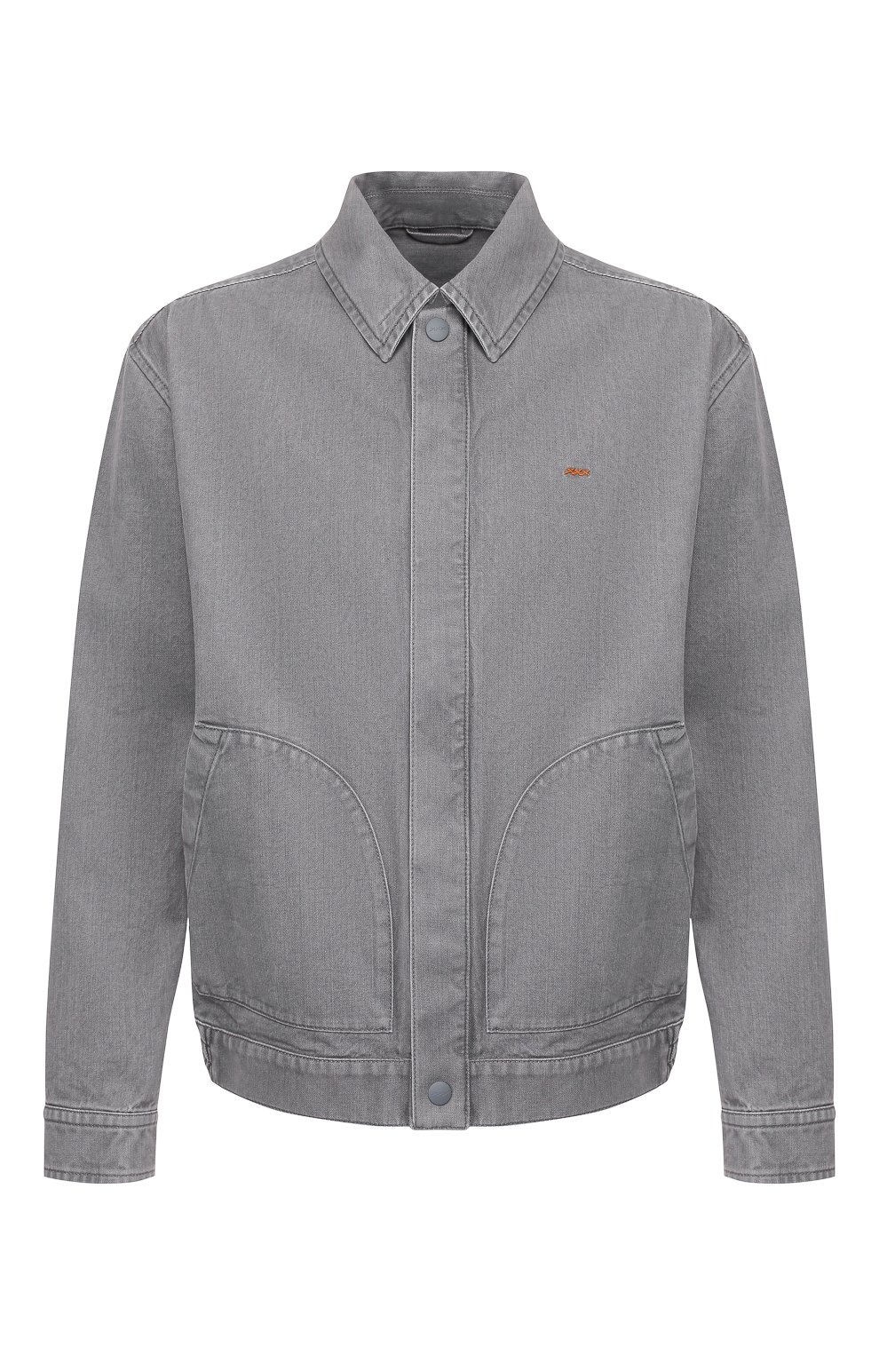 Мужская джинсовая куртка ZEGNA COUTURE серого цвета, арт. CUCD10/7UD42 | Фото 1