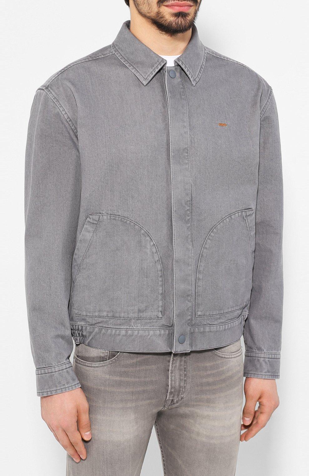 Мужская джинсовая куртка ZEGNA COUTURE серого цвета, арт. CUCD10/7UD42 | Фото 3