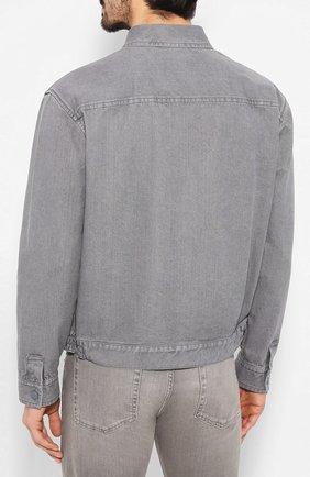 Мужская джинсовая куртка ZEGNA COUTURE серого цвета, арт. CUCD10/7UD42 | Фото 4