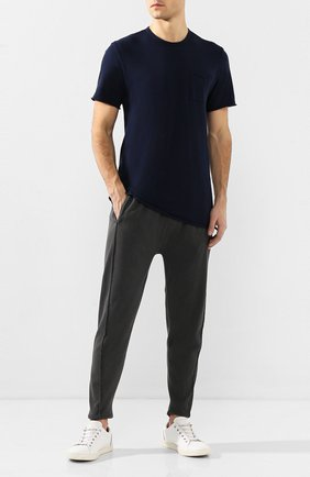 Мужская хлопковая футболка COTTON CITIZEN темно-синего цвета, арт. M602715 | Фото 2