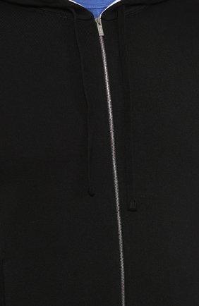 Мужской хлопковый кардиган KITON черного цвета, арт. UK1050 | Фото 5 (Мужское Кросс-КТ: Кардиган-одежда; Рукава: Длинные; Длина (для топов): Стандартные; Материал внешний: Хлопок; Стили: Спорт-шик; Статус проверки: Проверена категория)