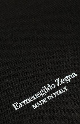 Мужские хлопковые носки ERMENEGILDO ZEGNA черного цвета, арт. N5V402890 | Фото 2