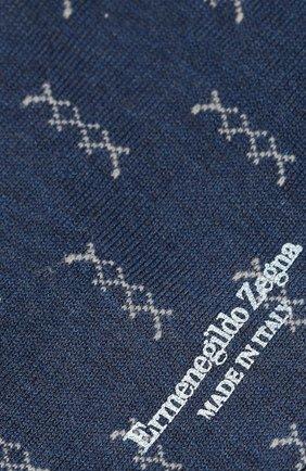 Мужские хлопковые носки ERMENEGILDO ZEGNA синего цвета, арт. N5V402880 | Фото 2