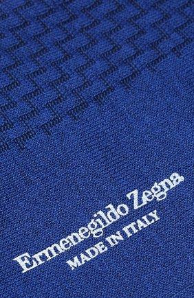 Мужские хлопковые носки ERMENEGILDO ZEGNA синего цвета, арт. N5V402860 | Фото 2