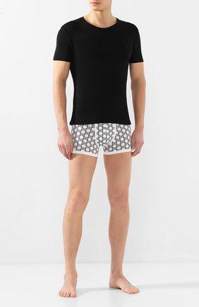 Мужские футболка BALMAIN черного цвета, арт. BRM4A5030 | Фото 2