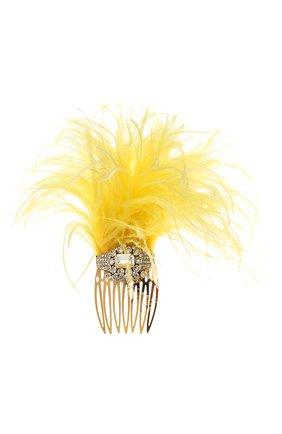 Женская гребень для волос DOLCE & GABBANA желтого цвета, арт. FY330Z/GDS04   Фото 1