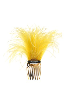 Женская гребень для волос DOLCE & GABBANA желтого цвета, арт. FY330Z/GDS04   Фото 2