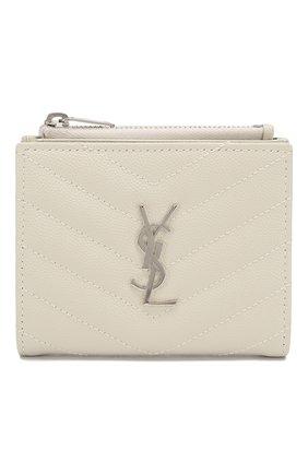 Женские кожаное портмоне SAINT LAURENT белого цвета, арт. 575879/B0W02 | Фото 1