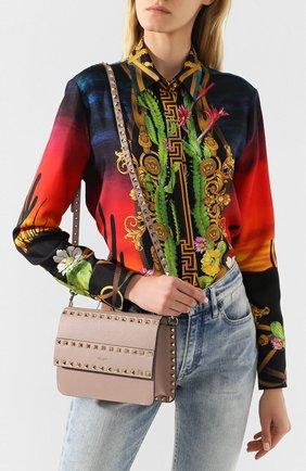 Женская сумка valentino garavani rockstud small VALENTINO бежевого цвета, арт. TW2B0E86/YRK | Фото 2
