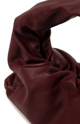 Женская сумка shoulder pouch BOTTEGA VENETA бордового цвета, арт. 610524/VCP40   Фото 2 (Материал: Натуральная кожа; Размер: large; Сумки-технические: Сумки top-handle)
