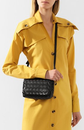 Женская сумка BOTTEGA VENETA черного цвета, арт. 609412/VCPP5 | Фото 2