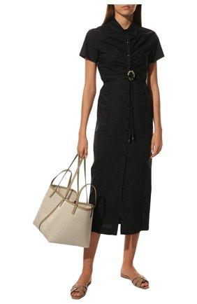 Женские кожаные шлепанцы nu pieds SAINT LAURENT белого цвета, арт. 571952/B8I00 | Фото 2