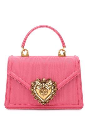 Женская сумка devotion small DOLCE & GABBANA розового цвета, арт. BB6711/AA668 | Фото 1