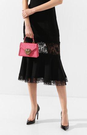 Женская сумка devotion small DOLCE & GABBANA розового цвета, арт. BB6711/AA668 | Фото 2