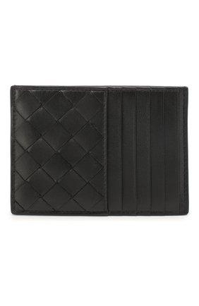 Мужской кожаный футляр для кредитных карт BOTTEGA VENETA черного цвета, арт. 608088/VCPP3 | Фото 1