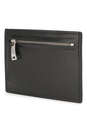 Мужской кожаный футляр для кредитных карт BOTTEGA VENETA черного цвета, арт. 608088/VCPP3 | Фото 2