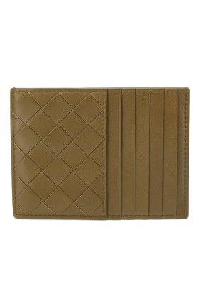 Женский кожаный футляр для кредитных карт BOTTEGA VENETA хаки цвета, арт. 608088/VCPP3 | Фото 1