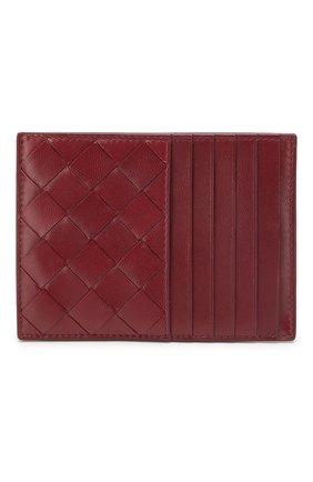 Женский кожаный футляр для кредитных карт BOTTEGA VENETA бордового цвета, арт. 608088/VCPP3 | Фото 1