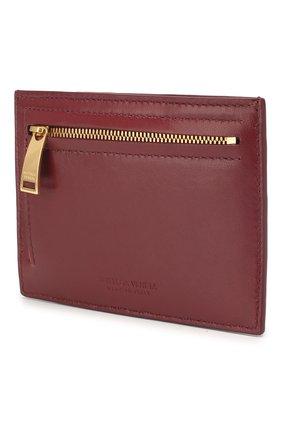 Женский кожаный футляр для кредитных карт BOTTEGA VENETA бордового цвета, арт. 608088/VCPP3 | Фото 2