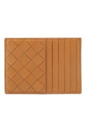 Женский кожаный футляр для кредитных карт BOTTEGA VENETA бежевого цвета, арт. 608088/VCPP3 | Фото 1