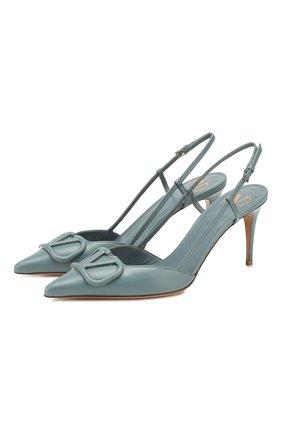 Кожаные туфли Valentino Garavani VLOGO   Фото №1