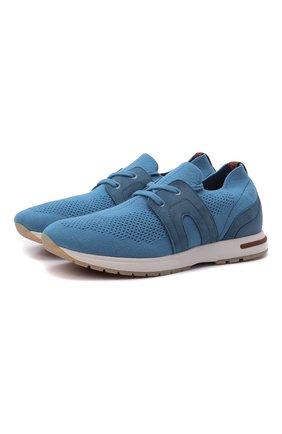 Женские текстильные кроссовки 360 lp walk LORO PIANA голубого цвета, арт. FAL0096 | Фото 1