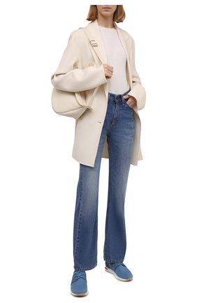 Женские текстильные кроссовки 360 lp walk LORO PIANA голубого цвета, арт. FAL0096 | Фото 2