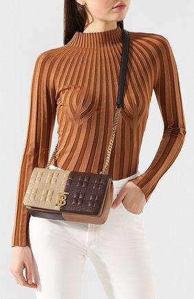 Женская сумка lola small BURBERRY коричневого цвета, арт. 8022977 | Фото 2 (Сумки-технические: Сумки через плечо; Материал: Натуральная кожа; Ремень/цепочка: На ремешке; Размер: small)