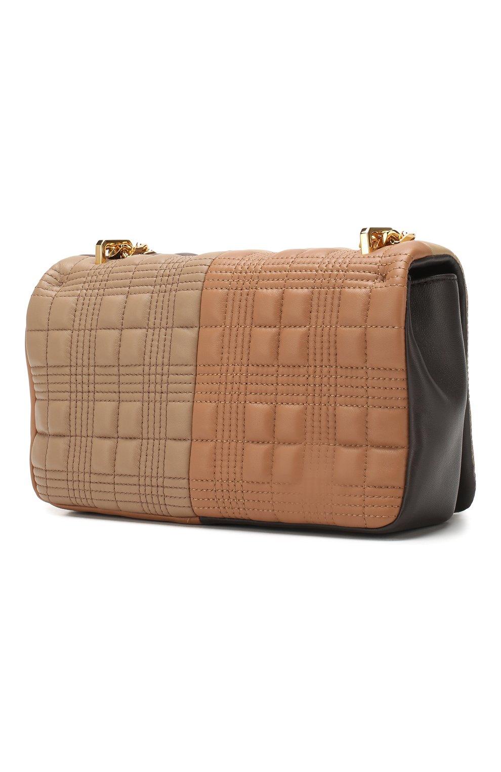 Женская сумка lola small BURBERRY коричневого цвета, арт. 8022977 | Фото 3 (Сумки-технические: Сумки через плечо; Материал: Натуральная кожа; Ремень/цепочка: На ремешке; Размер: small)