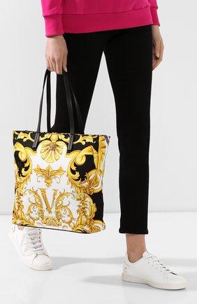 Женская сумка-тоут VERSACE разноцветного цвета, арт. DBFH329/D2NSB | Фото 2