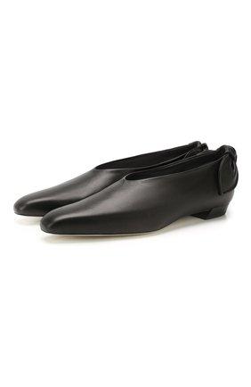 Женские кожаные балетки bow tie PROENZA SCHOULER черного цвета, арт. PS34042A/11000 | Фото 1