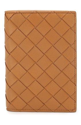 Женского кожаная обложка для паспорта BOTTEGA VENETA светло-бежевого цвета, арт. 608061/VCPP2 | Фото 1