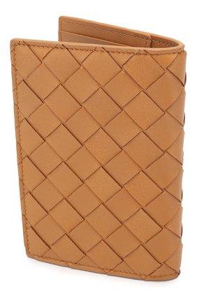 Женского кожаная обложка для паспорта BOTTEGA VENETA светло-бежевого цвета, арт. 608061/VCPP2 | Фото 2