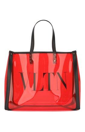 Женская сумка-тоут valentino garavani grande plage small  VALENTINO красного цвета, арт. TW2B0D21/MCE | Фото 1