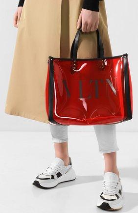 Женская сумка-тоут valentino garavani grande plage small  VALENTINO красного цвета, арт. TW2B0D21/MCE | Фото 2