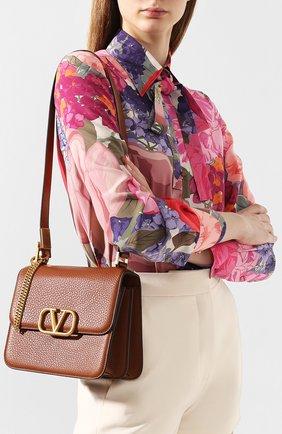 Женская сумка valentino garavani vsling medium VALENTINO коричневого цвета, арт. TW2B0F00/UZZ | Фото 2