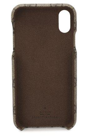 Мужской чехол для iphone xs max GUCCI бежевого цвета, арт. 587671/K5I0S | Фото 2