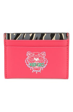 Женский кожаный футляр для кредитных карт KENZO фуксия цвета, арт. FA55PM310L45 | Фото 1