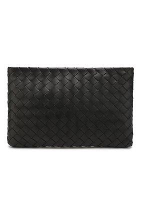 Женские кожаный футляр для документов BOTTEGA VENETA черного цвета, арт. 608232/VCPP2 | Фото 1