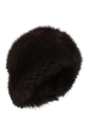 Женская берет из меха соболя KUSSENKOVV коричневого цвета, арт. 013550003008   Фото 1 (Материал: Натуральный мех)