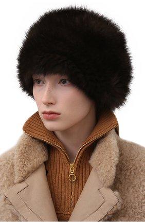 Женская берет из меха соболя KUSSENKOVV коричневого цвета, арт. 013550003008   Фото 2 (Материал: Натуральный мех)